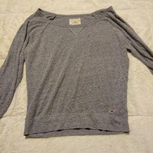 Grey long sleeve-Hollister size M